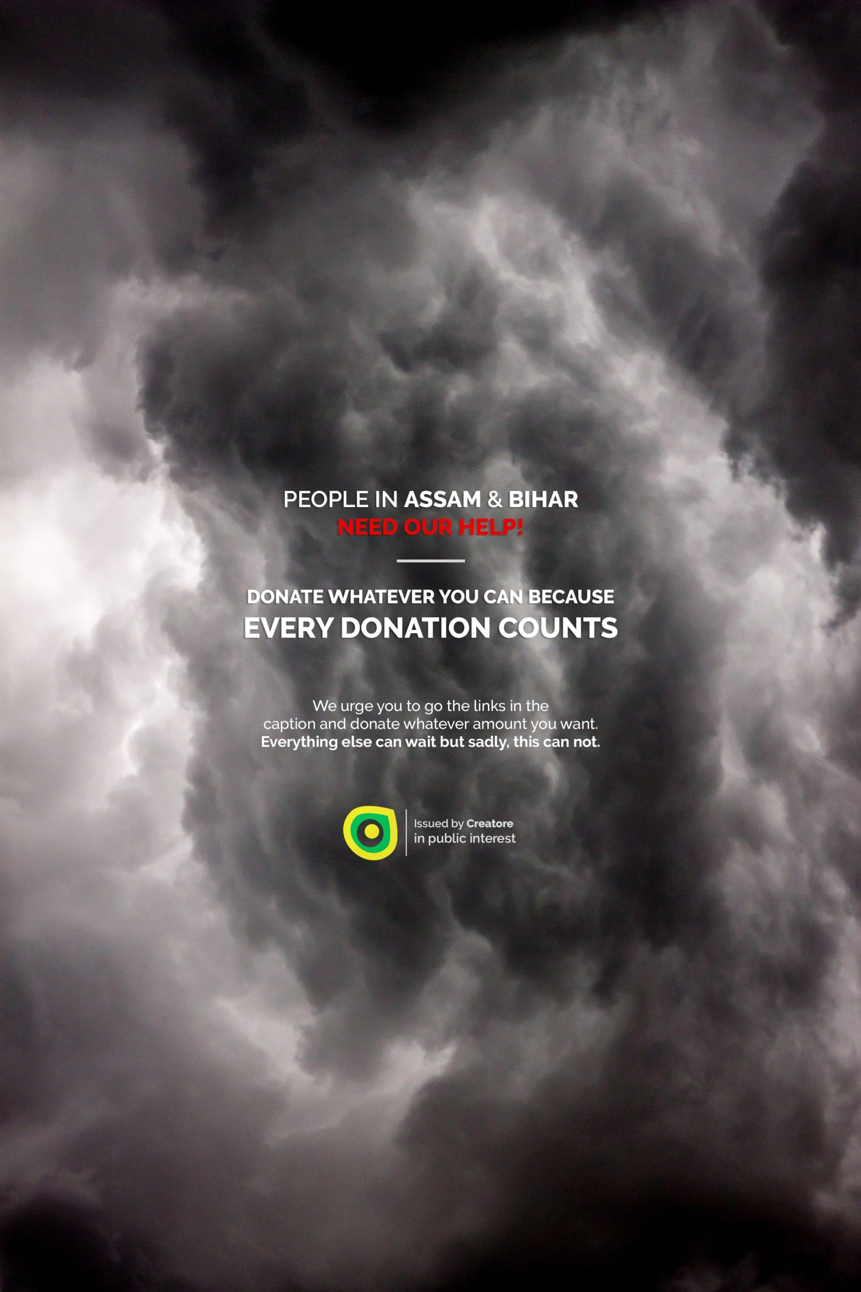 Creative Advertising and Marketing Agency Assam Floods Topical Post