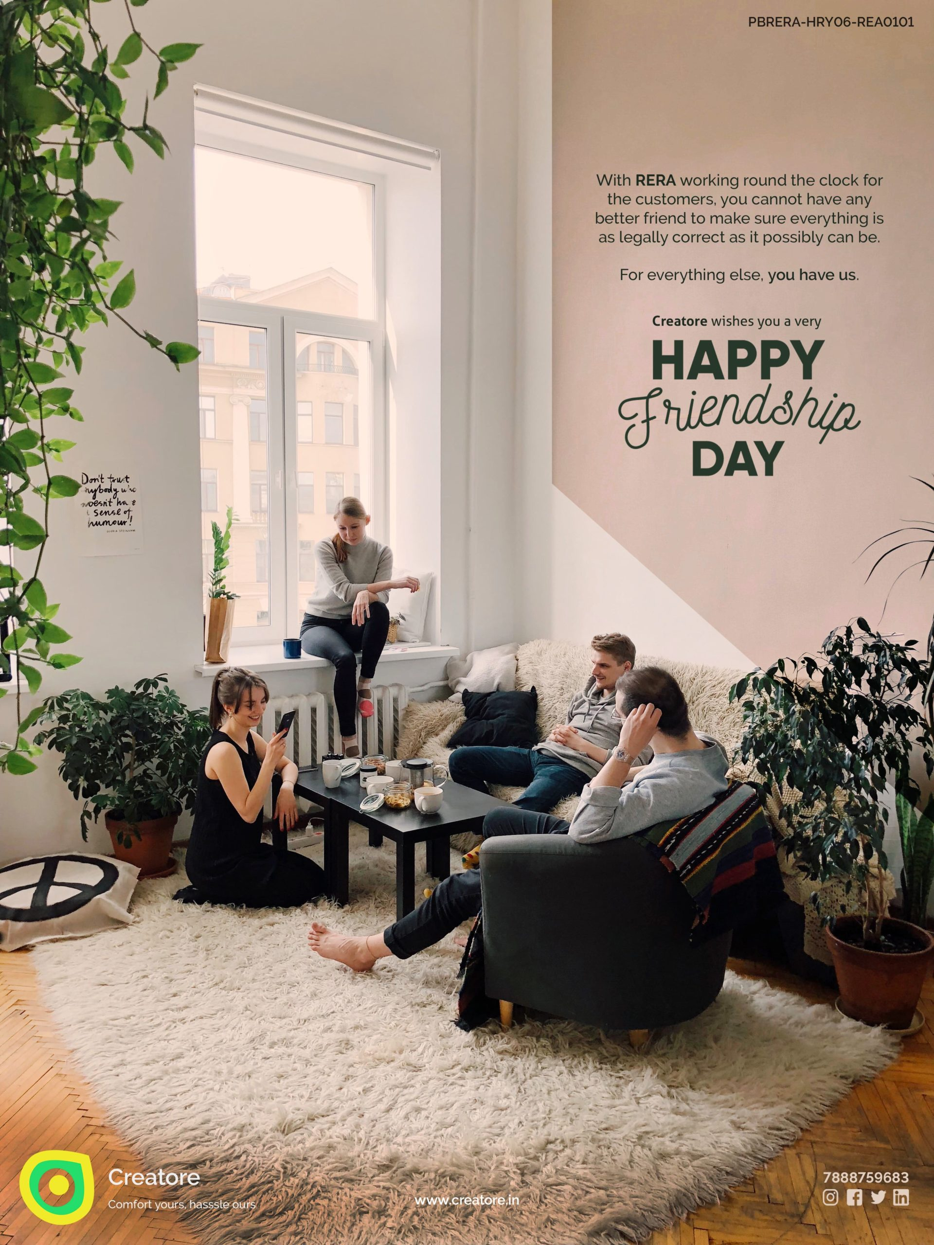Creative Advertising and Marketing Agency Friendship Day Corporate Greeting