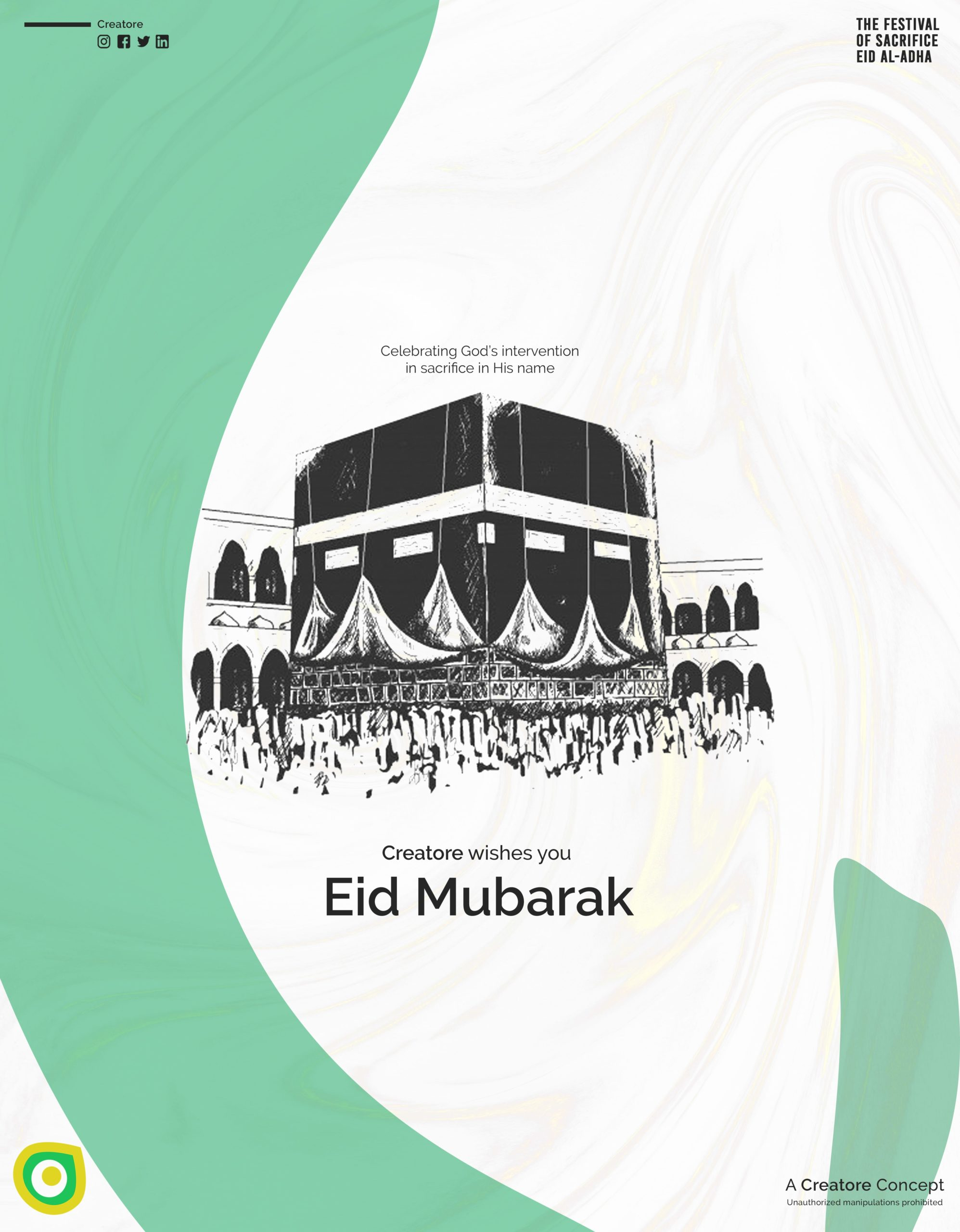 Creative Advertising and Marketing Agency Eid Corporate Greeting