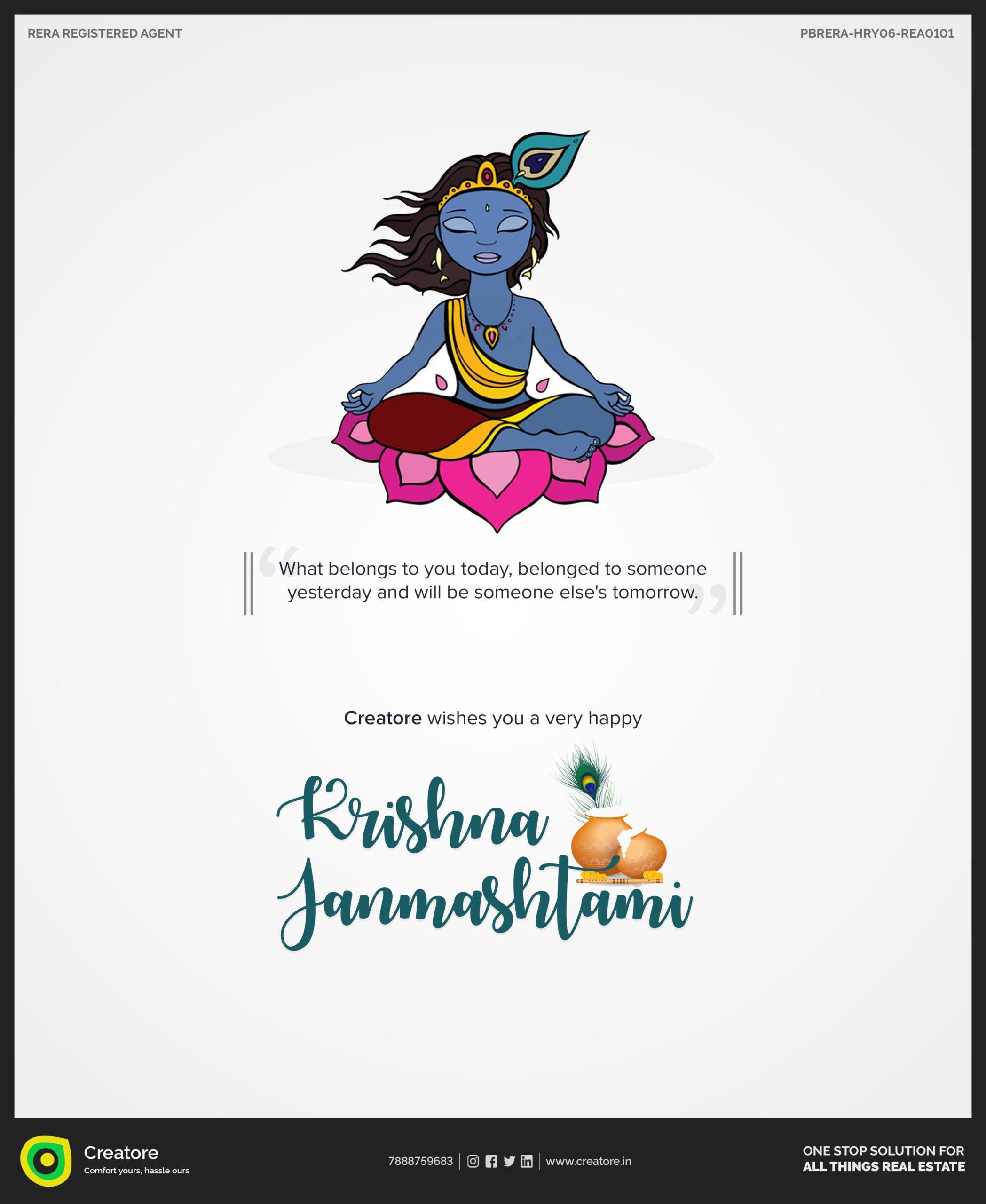 Creative Advertising and Marketing Agency Janamashtami Corporate Greeting