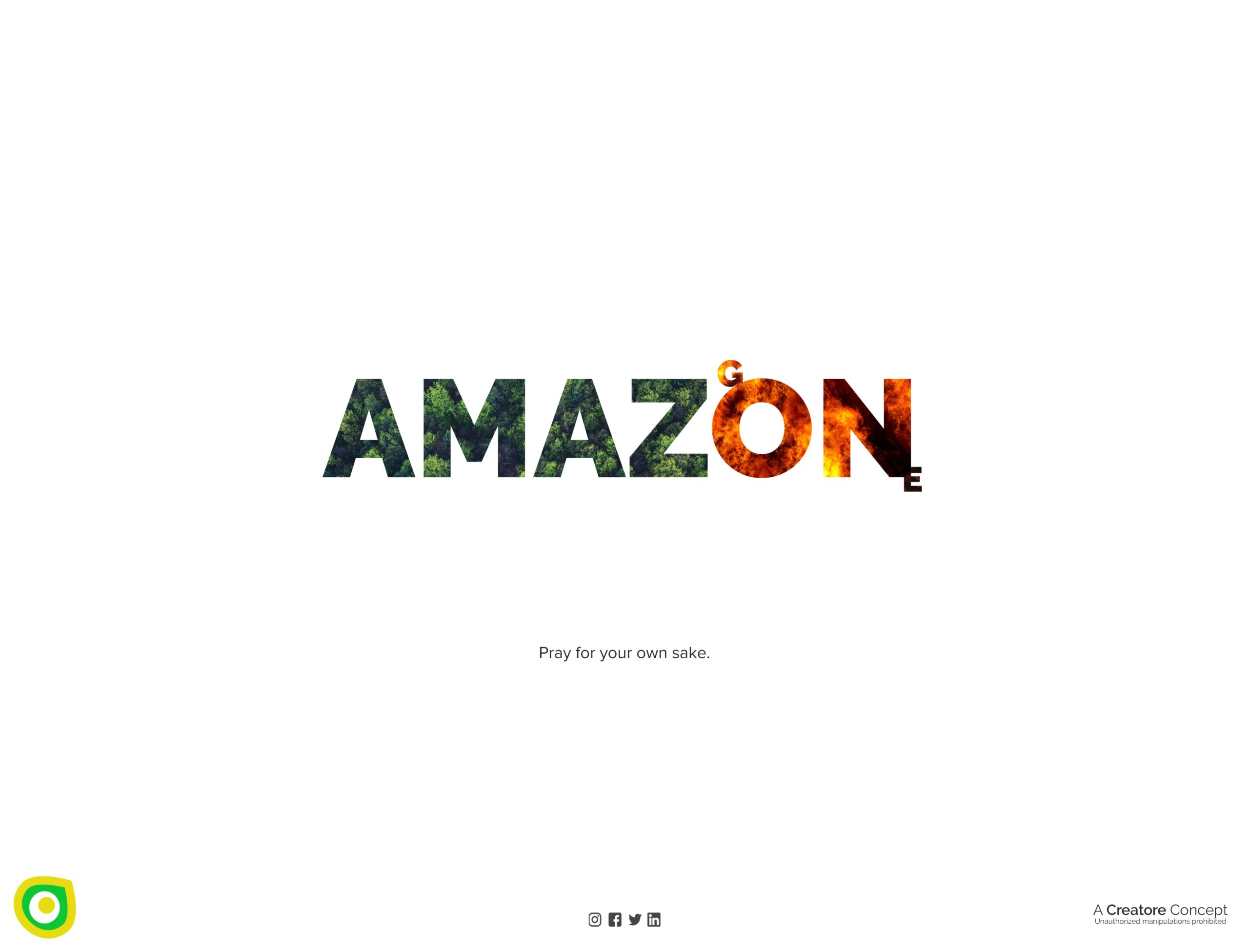 Creative Advertising and Marketing Agency Amazon Forest Fire Topical Post