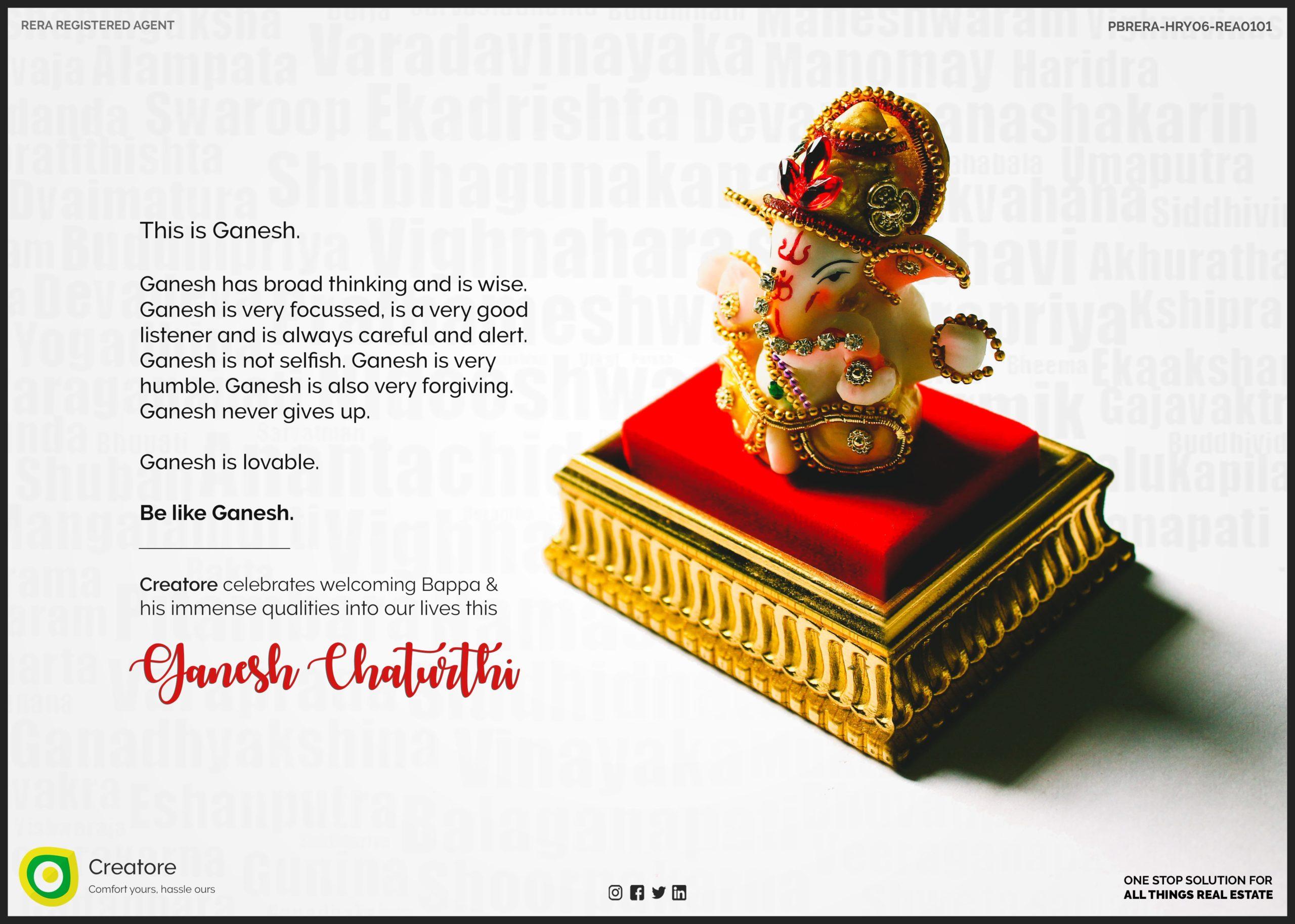 Creative Advertising and Marketing Agency Ganesh Chaturthi Corporate greeting