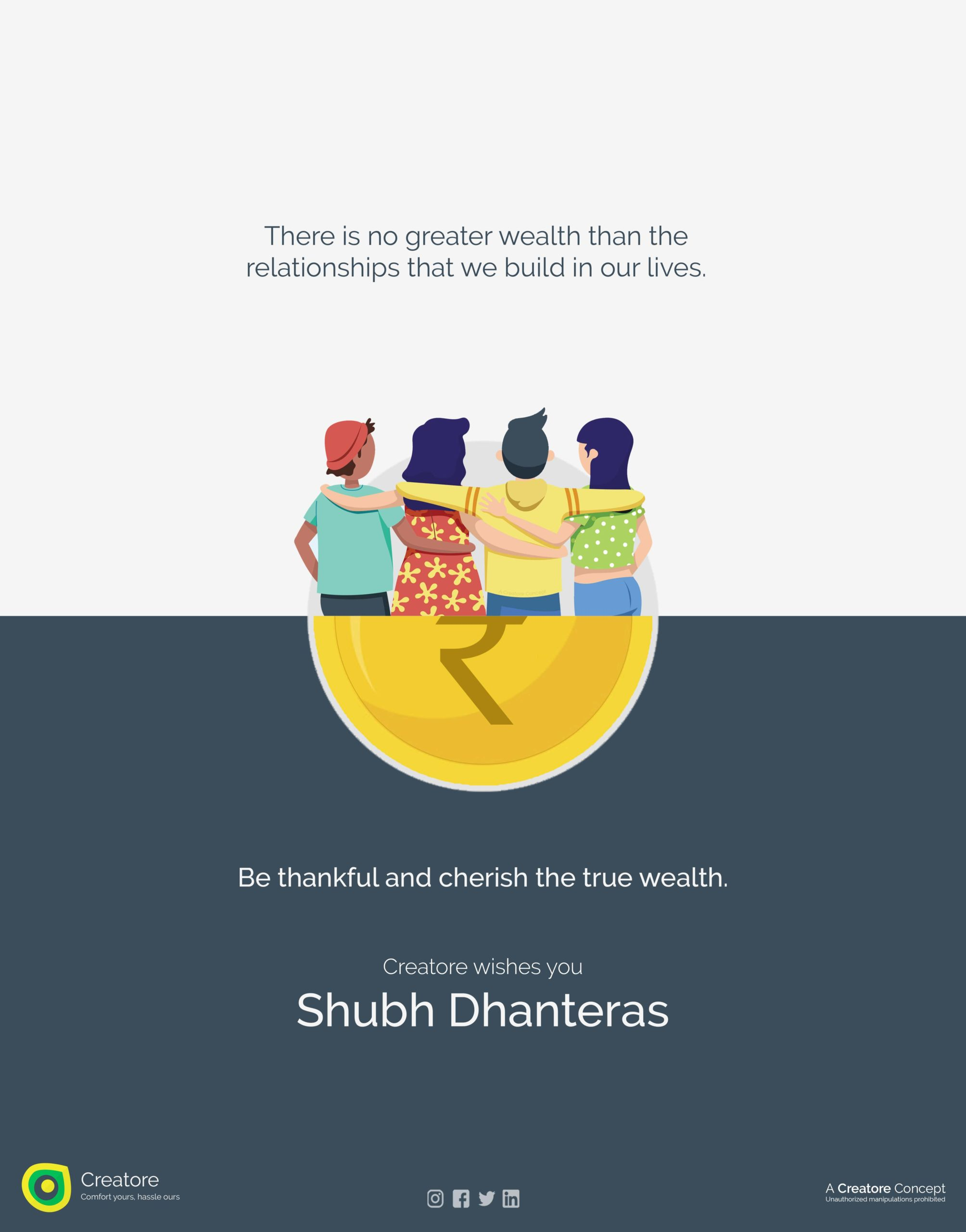 Creative Advertising and Marketing Agency Dhanteras Corporate Greeting